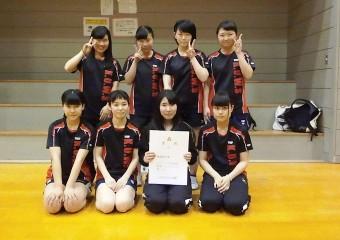 第69回大阪高等学校卓球選手権大会 第3位 入賞メンバー。