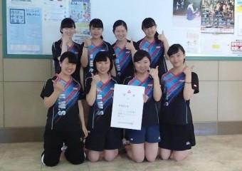 第70回大阪高校卓球選手権大会 3位入賞メンバー