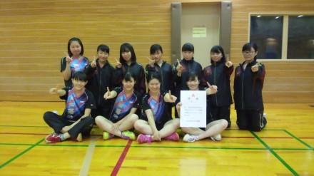 第72回大阪高等学校総合体育大会卓球の部 優勝!!