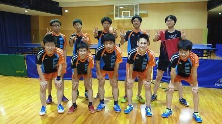 第72回大阪高等学校総合体育大会卓球の部 ベスト16