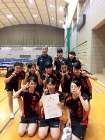 第68回大阪高校新人卓球大会第3位入賞