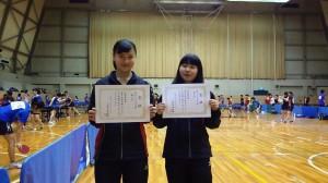北摂大会 シングルス第3位の岡選手と大谷選手