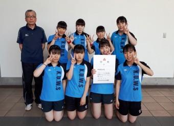 2019年度 第74回大阪高等学校卓球選手権大会 第5位。ダブルス ベスト16 入賞メンバー。